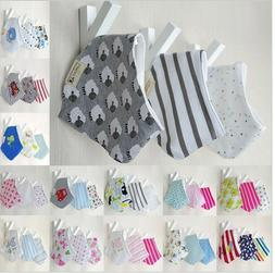 New baby shower gift sets girl boy Bandana Infant Bibs SHIPP