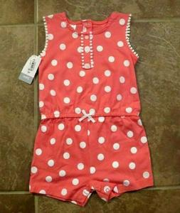 NEW Carter's Baby Toddler Girls Pink One Piece Outfit Size 9