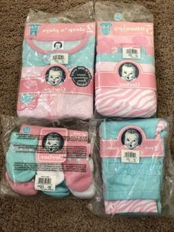 New Cute Gerber Baby Girl 3-6 Months Baby Essentials Gift Se