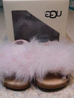NEW GIRLS INFANT BABY 2/3 S UGG HOLLY SEASHELL PINK SHEEPSKI