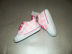 NEW Luvable Friends Newborn Baby Girls Shoes Pink WHITE 0-6