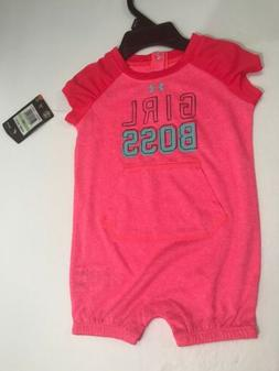 New Under Armour One piece Size 3/6 Months Girls Baby Romper