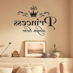 New Removable Princess Sleeps Wall Stickers Art PVC Decals B