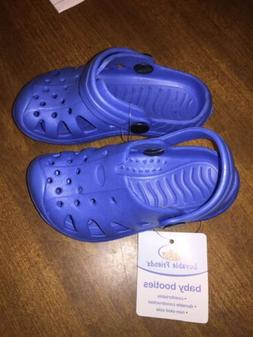 New With Tags Luvable Friends Baby EVA Clogs Shoes Blue 18-2