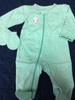 newborn baby girl 2 pc footie