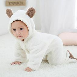 newborn baby girl boy bear romper jumpsuit