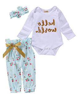 Emmababy Newborn Baby Girl Boy Clothes Outfit Arrow Romper+