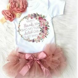 Newborn Baby Girl Cotton Romper+Tutu Skirt Tulle Outfits Dre