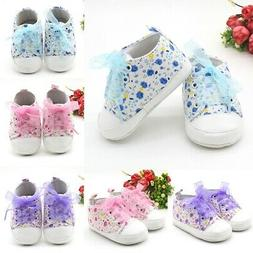 Newborn Infant Baby Girl Soft Sole Crib Shoes Non-slip Cute