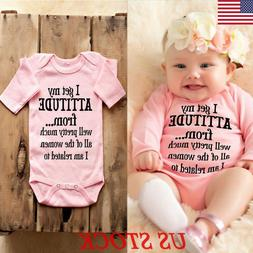 Newborn Baby Girl Long Sleeve Romper Bodysuit Jumpsuit Outfi