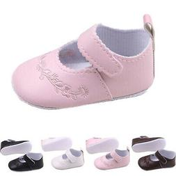 Newborn Baby Girl Princess Shoes PU Leather Soft Sole Crib S