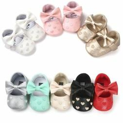 Newborn Baby Girl Soft Crib Shoes Infants Anti-slip Sneaker