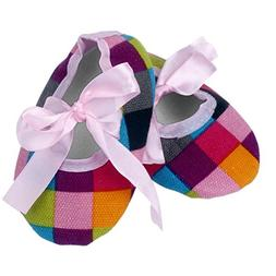 Voberry Newborn Baby Girls' Soft Sole Bowknot Leopard Shoes