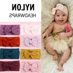 Baby Girl Cable Knit Nylon  Turban Top Knot Headband Newborn