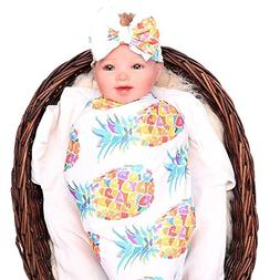 Quest Sweet Newborn Baby Swaddle Floral Receiving Blankets w