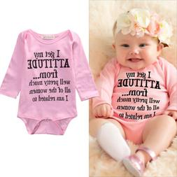 Newborn Infant Baby Boy Girls Clothes Long Sleeve Romper Bod
