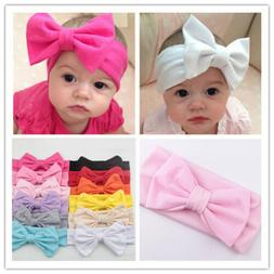 Newborn Infant Baby Cute Bow Headband Kids Girl Hair Band To
