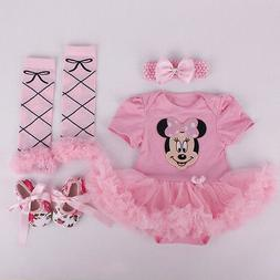 newborn infant baby girls headband romper leg