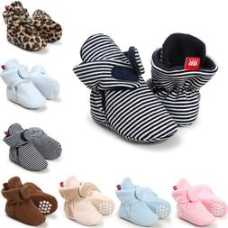 Newborn Infant Warm Boots Booties Baby Boy Girl Soft Sole Cr