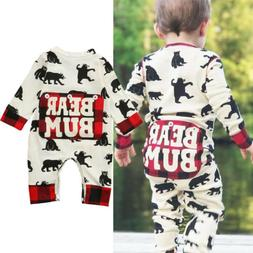 Newborn Kid Baby Boy Girl Bear Clothes Jumpsuit Romper Bodys