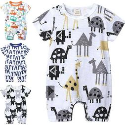 Newborn Toddler Baby Boy Girl Romper Bodysuit Jumpsuit Summe