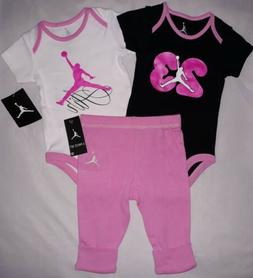 66a39cfe6a9d Jordan Nike Baby Girl 6-9M 6 9 Months Outfit Infant Gift Set