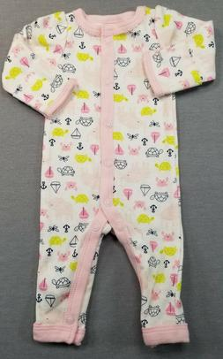 NWOT SIMPLE JOYS BY CARTER'S PREEMIE BABY GIRL PINK FUN PRIN