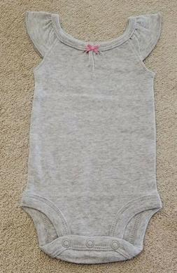 NWOT SIMPLE JOYS BY CARTER'S PREEMIE BABY GIRL SOLID GRAY TA