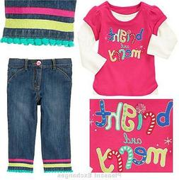 NWT Gymboree 2T 3T 4T 5T COLOR HAPPY Baby Girl 2pc lot Merry