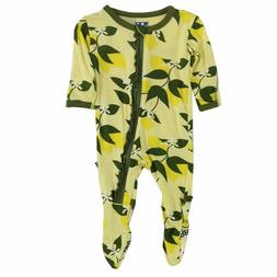 NWT Kickee Pants Baby Girl Lemon Tree Footie, 3-6 months