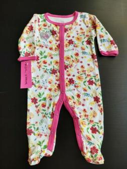 NWT Baby Girl Pink Floral Sleeper