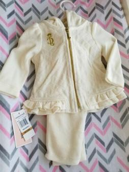 NWT JUICY COUTURE BABY GIRL TRACK SUIT OUTFIT SET 0-3 MONTHS