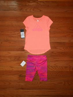 NWT ADIDAS Baby Girls 2pc outfit set, size 18M