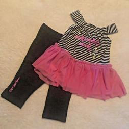 NWT Baby Girls CALVIN KLEIN Outfit Set Pink Skirted a Tunic