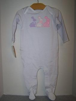 NWT Boutique  Magnolia Baby Girls Easter Footie 1 pc Outfit
