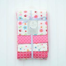 NWT Carter's 4 Pack Baby Girl Receiving Blankets Pink Floral