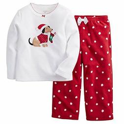 NWT CARTER'S BABY GIRL 2 PC DOGGIE HOLIDAY STOCKINGS RED FLE