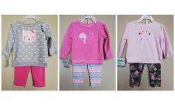 *NWT- CARTER'S - BABY GIRL'S 2-PC FLEECE OUTFIT SET - SIZE:
