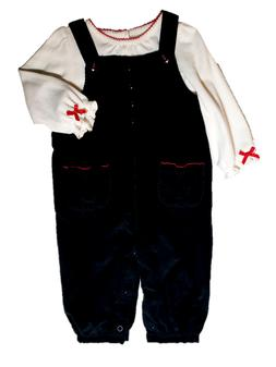 *NWT- CARTER'S - BABY GIRL'S 2-PC OVERALL OUTFIT SET