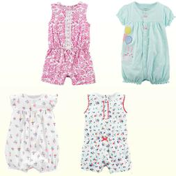 NWT Carter's Baby Girls One Piece Romper/Sunsuit Spring Summ