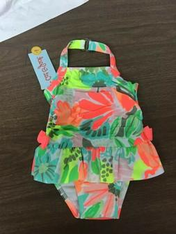 NWT Cat & Jack Size 9 Months Baby Girl Lemon Swimsuit Bathin