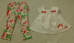 NWT Gymboree Flamingo Floral Swing Top Leggings Outfit 18-24