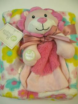 NWT Baby Gear Girl Lion Toy Security Blanket and Blanket Gif