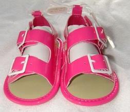 NWT Infant Girl Pre-walk Sandals 9-12 Month PINK Straps Open