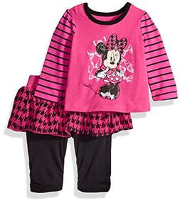NWT Disney Minnie Mouse Baby Girl Pink Houndstooth Tutu Skeg