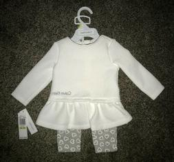 NWT CALVIN KLEIN newborn / infant baby girl 2-piece outfit s