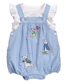 NWT Gymboree Peter Rabbit Romper set 3 6 12 18 24mo Baby Gir