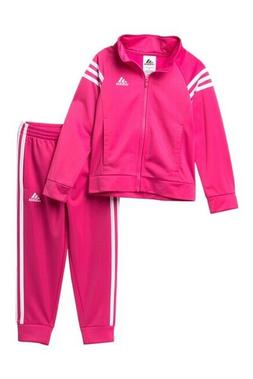 NWT TODDLER GIRL KIDS ADIDAS AG4330 EVENT TRICOT JACKET & PA
