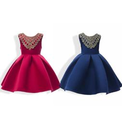 Party Wedding Bridesmaid Formal Dresses Baby Girl Princess D
