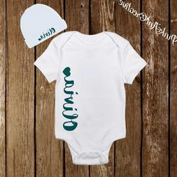 Personalized Name Cute Baby Girl Clothes Onesies with Hat /